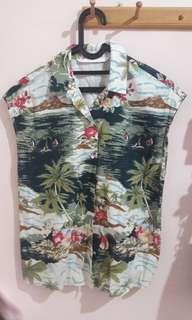 zara sleveless shirt
