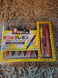 Crayons double set