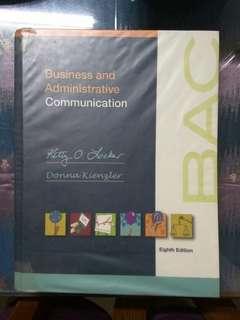 Business and Administrative Communication , Locker & Kienzler 8th Edition