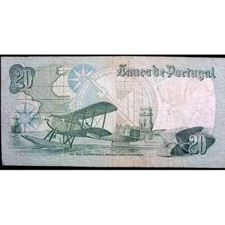 1978年葡萄牙銀行先鋒飛行員告丁諾像20厄士姑度鈔票