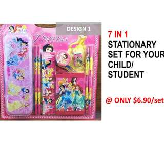 7 in 1 Stationary Set For your child/ students!