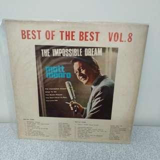 60年代Matt Monro 經典歌曲 膠唱片