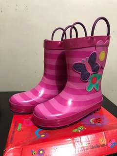 Rainboots for Kids (pink blossom)