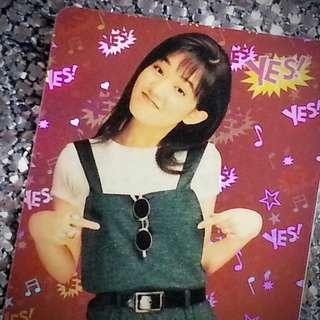 范曉萱 簽名 4861(S) 絕版 Yes Card Yes咭 Yes卡 閃咭 閃卡 閃Card Yes閃咭 Yes閃卡 明星相 明星照片 回憶 珍藏 偶像