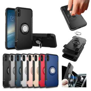 Magnetic 360 Ring Armour Case for Iphone X