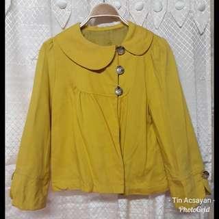 Mustard Trench blazer