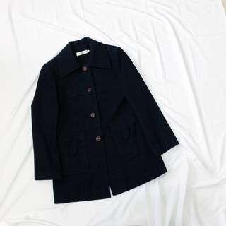🚚 Wonderday 原價近3000元!便宜出售超質感厚實黑色毛呢外套