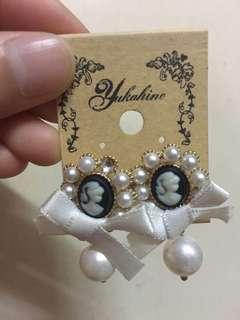 復古珍珠耳環earrings