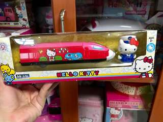 Authentic hello kitty bullet train