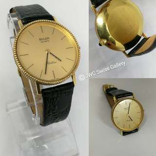 BULER Swiss made 18k gold vintage classic collection quartz