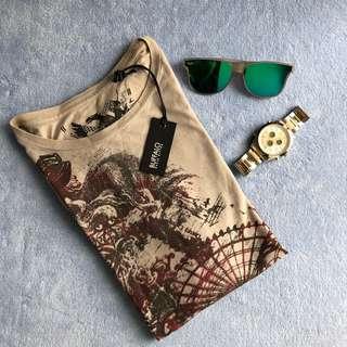 BUFFALO grey T-shirt with print