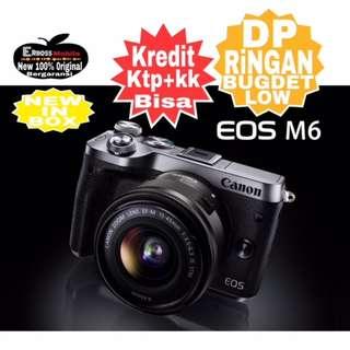 Canon EOS M6 Kit 15-45mm Resmi-cash/kredit Dp 2jt ditoko ktp+kk wa;081905288895