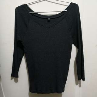 Grey Long Sleeved Top (Uniqlo L sized)