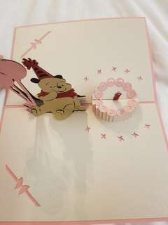 Birthday Cards with pop up- made in HK