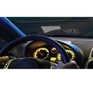 Plasmaglow Heads Up Display Tachometer (Large Projection)