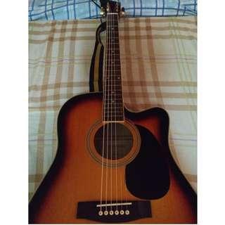Fernando Electric Acoustic Guitar AW-41EQ SB