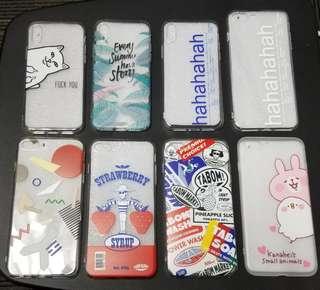 多款iPhone軟膠全包邊電話殼 $40 (ipX, i8/7, i8/7plus)包本地平郵