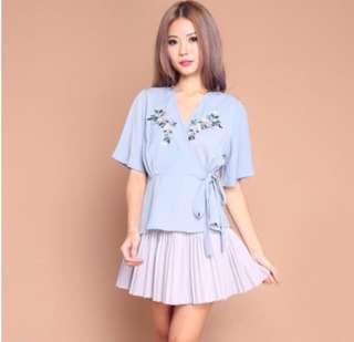 PO: Muted Melody Embroidery Kimono Top