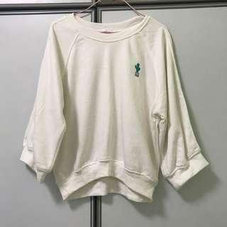 Preloved White Cropped Pullover