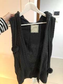 Sleeveless Knit Cardigan
