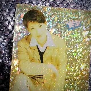 江希文 AJ11(S) 絕版 Yes Card Yes咭 Yes卡 閃咭 閃卡 閃Card Yes閃咭 Yes閃卡 明星相 明星照片 回憶 珍藏 偶像