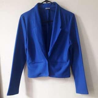 Royal blue office blazer