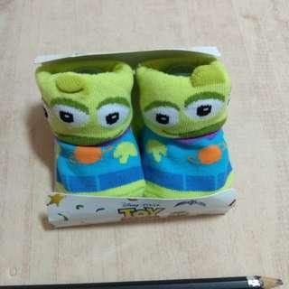 日本 迪士尼 玩具總動員 三眼怪 嬰兒襪 襪子
