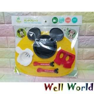 #1927 (日本製造及直送)迪士尼米奇老鼠維尼熊唐老鴨食用餐具可微波爐嬰兒兒童