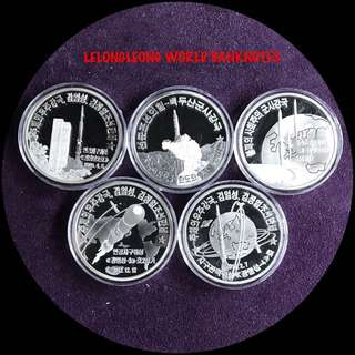 North Korea silver coins set - 1 set available