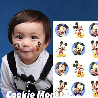 🌈 Licensed Mickey party supplies - party tattoo / party favors