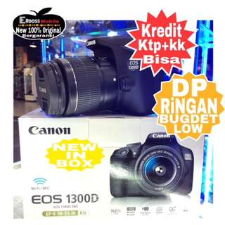 Canon EOS 1300D Kit 18-55MM IS II Resmi-cash/kredit Dp 500rb ktp+kk wa;081905288895