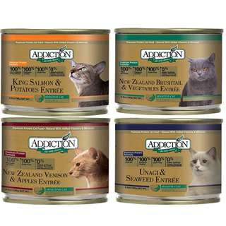 Addiction Grain-Free Canned Cat Food 185g