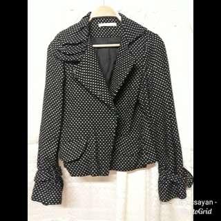 Black polka dots blazer