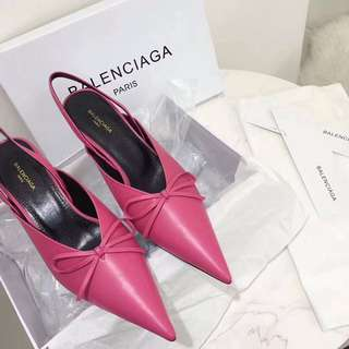 Balenciaga Knife Pumps in hot pink colour