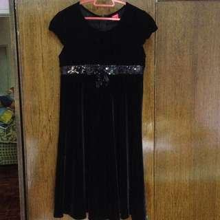 AUTH HUSH PUPPIES VELVET DINNER DRESS