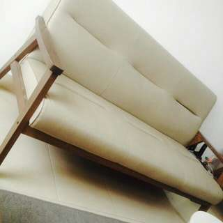 Wooden Sofa PU Leather
