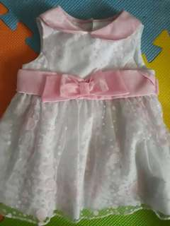 For sale - for Christening Costume white & pink