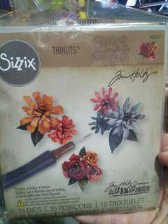 Sizzix flowers dies with quillitg tool