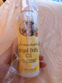 Earth mama angel baby oil 120 ml massage oil baby infant