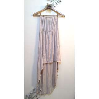 NUDE TUBE DRESS