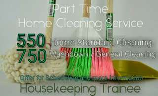 House Cleaning Service| Part time | Housekeeping trainee in a private training center