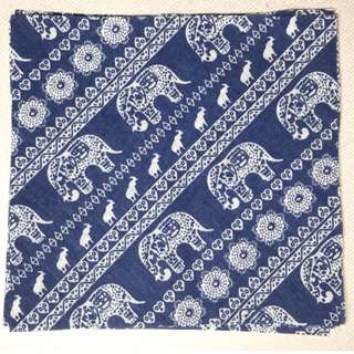 DIY 4pcs Cotton Fabric Cloth Textile for sewing quilt patchwork cushion clutch pouch