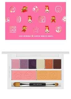 BNIB Shu Uemura X MARIO bros peach's eye and cheek palette