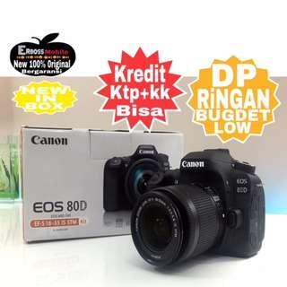 Canon EOS 80D Kit EF-S 18-55mm Resmi-cash/kredit Dp 2jt ktp+kk wa;081905288895