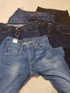 Zara and Levi's jeans