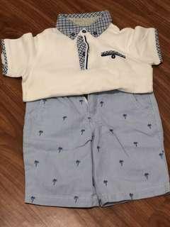 Gingersnaps Polo shirt and shorts