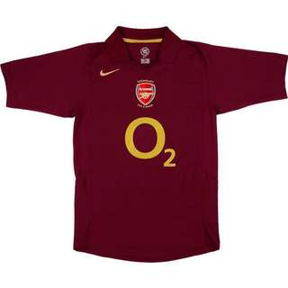 [BWNT] Arsenal 2005-2006 Authentic Home Jersey