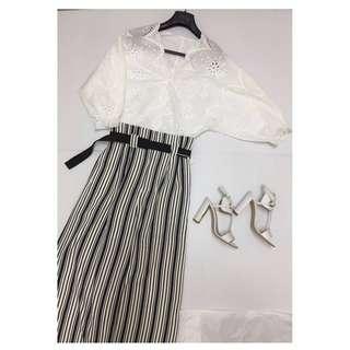 日本購入 全新 縷空白色上衣 L size