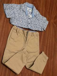Gingersnaps Polo Shirt and Jogger Pants