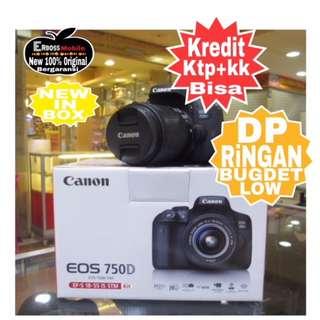 Canon EOS 750D Kit EF-S 18-55mm Resmi-cash/kredit Dp 1jt ktp+kk wa;081905288895